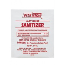 Beer/Clean® Bar-Sink Sani-Sure for Sanitize - 100 Pouches