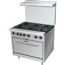 6 Burner Gas Range With Full Size Oven