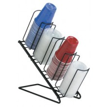 Angled 4 Cup and Lid Organizer