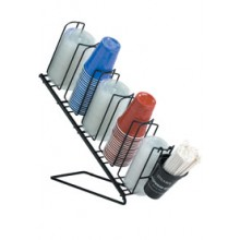 Angled 5 Cup and Lid Organizer