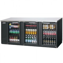 "89 1/8"" Wide Standard Depth Glass Door Back Bar Cooler"