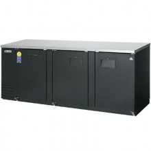 "89 1/8"" Wide Narrow Depth Solid Door Back Bar Cooler"