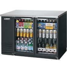 "49"" Wide Narrow Depth Glass Door Back Bar Cooler"