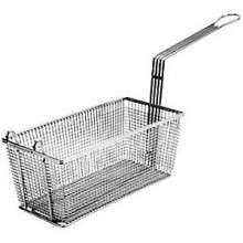 "17 1/8"" L x 8 1/4"" W x 6"" H Front Hook Standard Handle Fryer Basket"