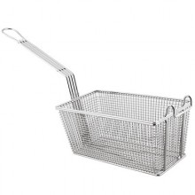 "12 1/8"" L x 6 5/16"" W x 5 5/16"" H Front Hook Standard Handle Fryer Basket"
