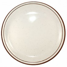 "9"" Granada™ Narrow Rim Plate - Brown Speckled"