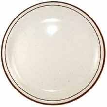 "10 1/2"" Granada™ Narrow Rim Plate - Brown Speckled"