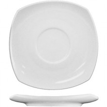 "5 3/4"" Quad™ Porcelain No Rim Saucer - Bright White"