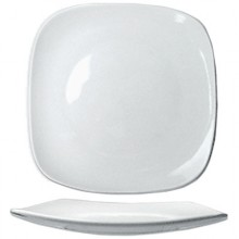 "7 3/4"" Quad™ Porcelain No Rim Plate - Bright White"