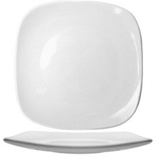 "9 3/4"" Quad™ Porcelain No Rim Plate - Bright White"
