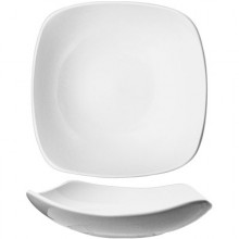16 Oz. Quad™ Porcelain No Rim Soup Plate - Bright White
