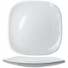 "11 5/8"" Quad™ Porcelain No Rim Plate - Bright White"