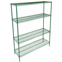 "60"" W x 24"" D x 74"" H All Purpose Epoxy Wire Complete Shelving Set"