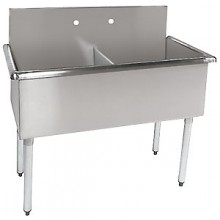 "Two 18"" x 21"" x 12"" Tub Budget Sink"