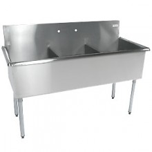 "Three 18"" x 18"" x 12"" Tub Budget Sink"