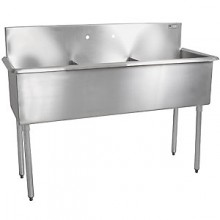 "Three 24"" x 24"" x 12"" Tub Budget Sink"