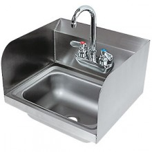 Heavy 20 Gauge 300 Series Stainless Steel Hand Sink with Side Splash