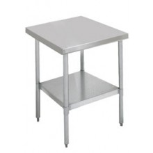"24"" W x 24"" L Stainless Steel Worktable"
