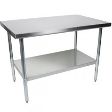 """24"""" W x 48"""" L Stainless Steel Worktable"""