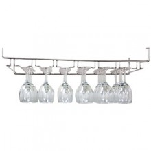 "24"" W Heavy Wire Overhead Glass Rack - Chrome"