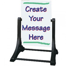 Swinger™ WO-WO Sidewalk Sign - White