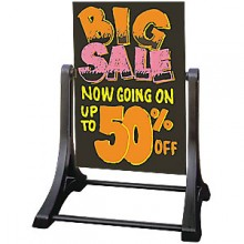 Swinger™ WO-WO Sidewalk Sign - Black
