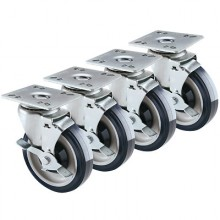 """Economy Plate Casters – 4"""" x 4"""" Plate"""