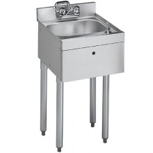 "18"" W Hand Sink with Side Splashes"
