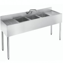 5' L 1800 Series 3 Compartment Sink