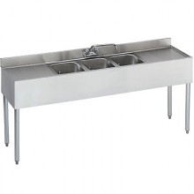 6' L 1800 Series 3 Compartment Sink