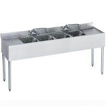 6' L 1800 Series 4 Compartment Sink
