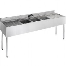 6' L 2100 Series 3 Compartment Sink