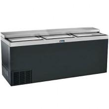 "72"" Wide Black Vinyl Bottle Cooler"