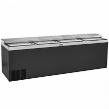 "96"" Wide Black Vinyl Bottle Cooler"