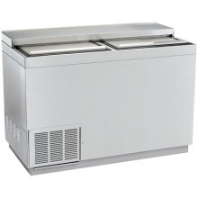 "48"" Wide Stainless Steel Bottle Cooler"