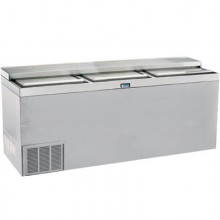 "72"" Wide Stainless Steel Bottle Cooler"