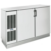 "60"" Wide Stainless Solid Door Back Bar Cooler"