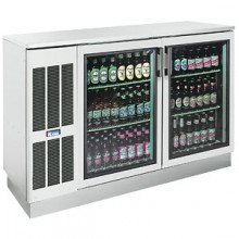 "60"" Wide Stainless Glass Door Back Bar Cooler"