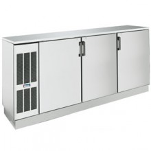 "84"" Wide Stainless Solid Door Back Bar Cooler"
