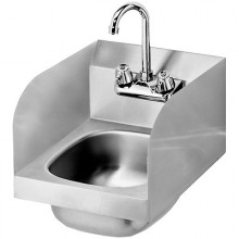 20 Gauge Stainless Steel Space Saver Hand Sink w/ Side Splashes
