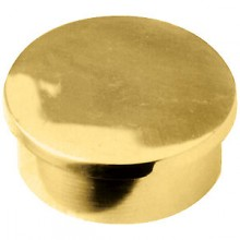 Flush End Cap - Brass