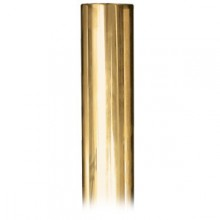 6' Smooth Solid Brass Rail