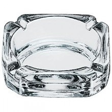 "3 3/4"" Square Glass Ashtray"