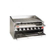 """72"""" W Heavy Duty Radiant Gas Counter Charbroiler"""