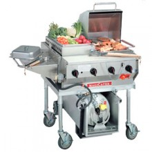 80,000 BTU Deluxe Outdoor Gas Grill with Propane Tank and Cart