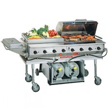 160,000 BTU Deluxe Outdoor Gas Grill with Propane Tank and Cart