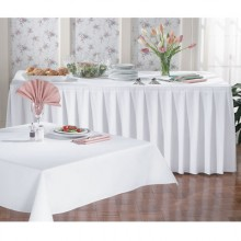 "40"" x 40"" SoftWeave™ Signature Linen Tablecloth - White"
