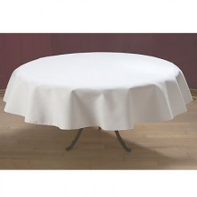 "76"" Round SoftWeave™ Signature Linen Tablecloth"