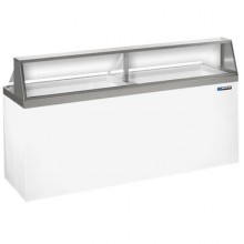 "90 3/4"" W 28 Tub Standard Front Lighted Dipping Cabinet"