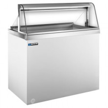 """47 3/4"""" W 12 Tub Curved Glass Front Lighted Dipping Cabinet"""